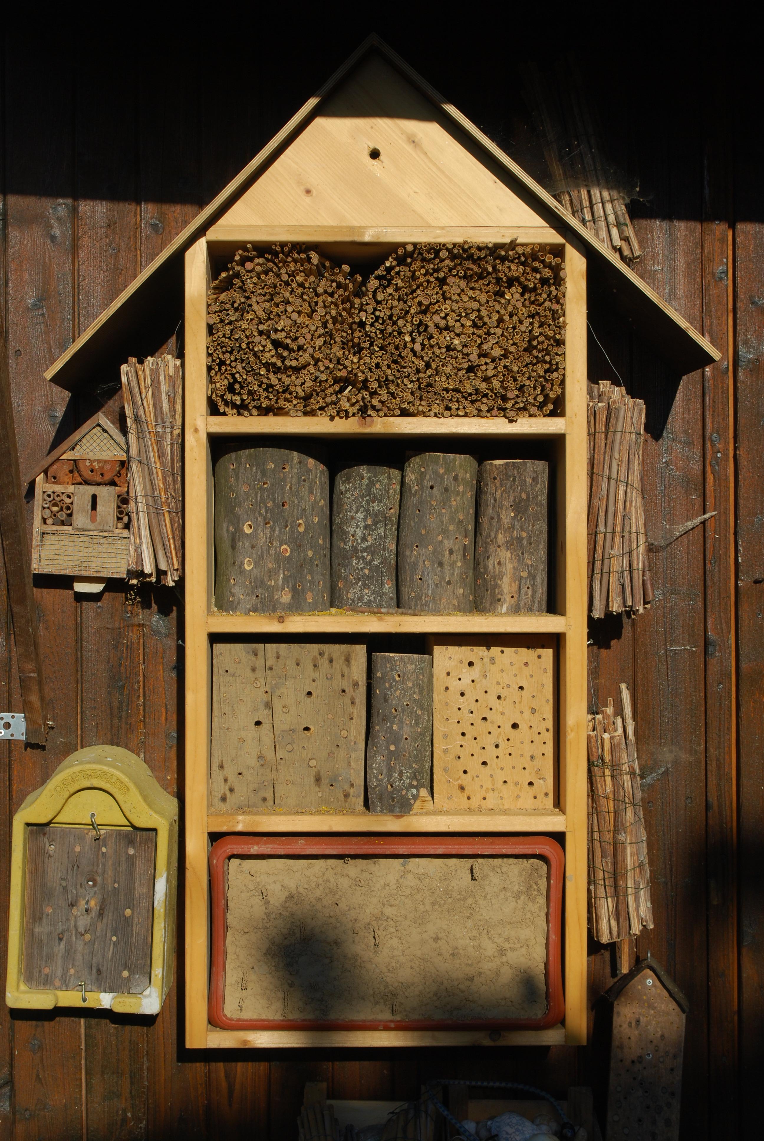 Wildbienen-Nisthilfe (Bild: H.-J. Flügel)