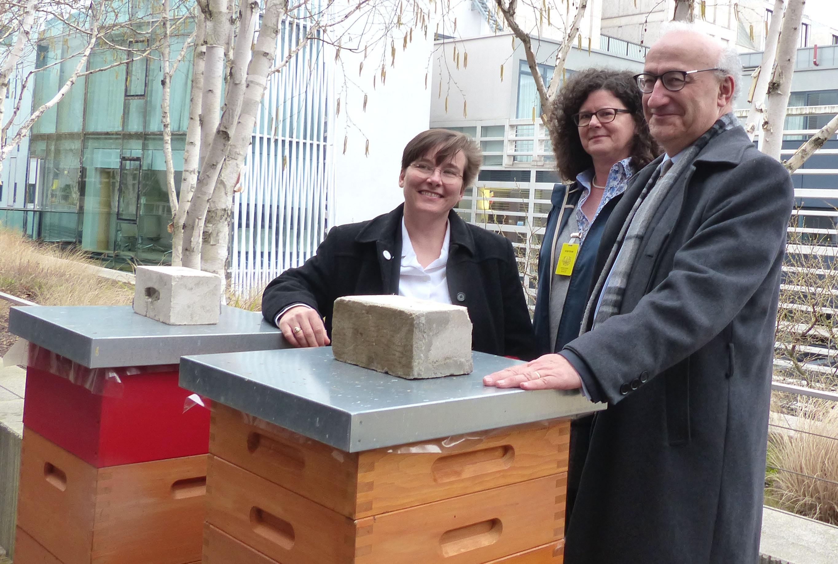 Dr. Melanie von Orlow, Annette Mangold und der französische Botschafter Philippe Etienne (Bild: G. Winkler)