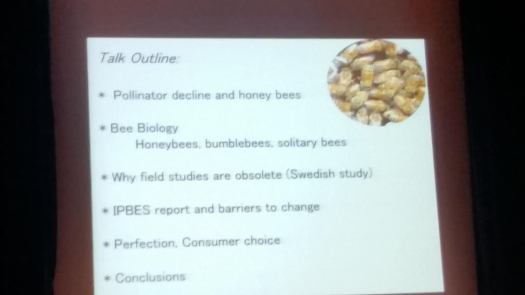 Er thematisierte die Ergebnisse der Rundlof-Studie aus Schweden